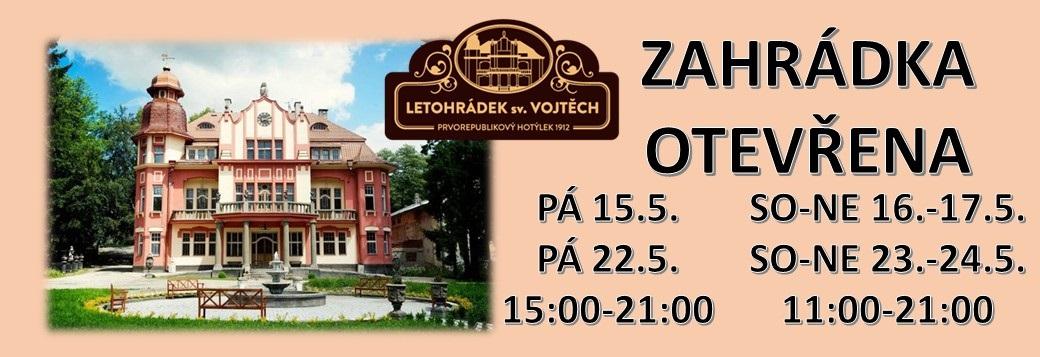 Víkendové zahrádky v Letohrádku sv. Vojtěch