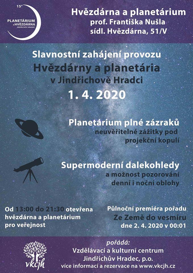 Zahájení provozu Hvězdárny a planetária prof. Františka Nušla