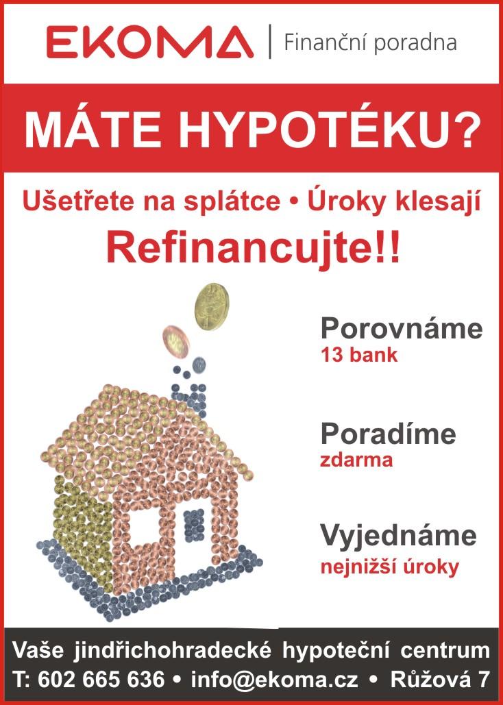 EKOMA vám poradí se splátkami pro hypotéku nebo úvěr ze stavebního spoření