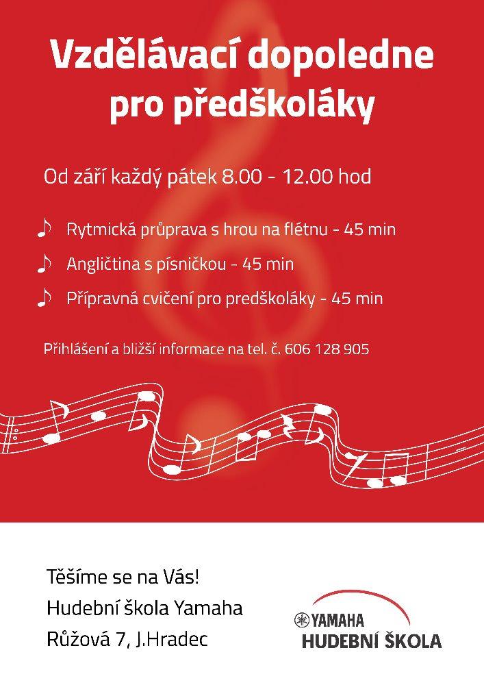 Vzdělávací dopoledne pro předškoláky v hudební škole YAMAHA