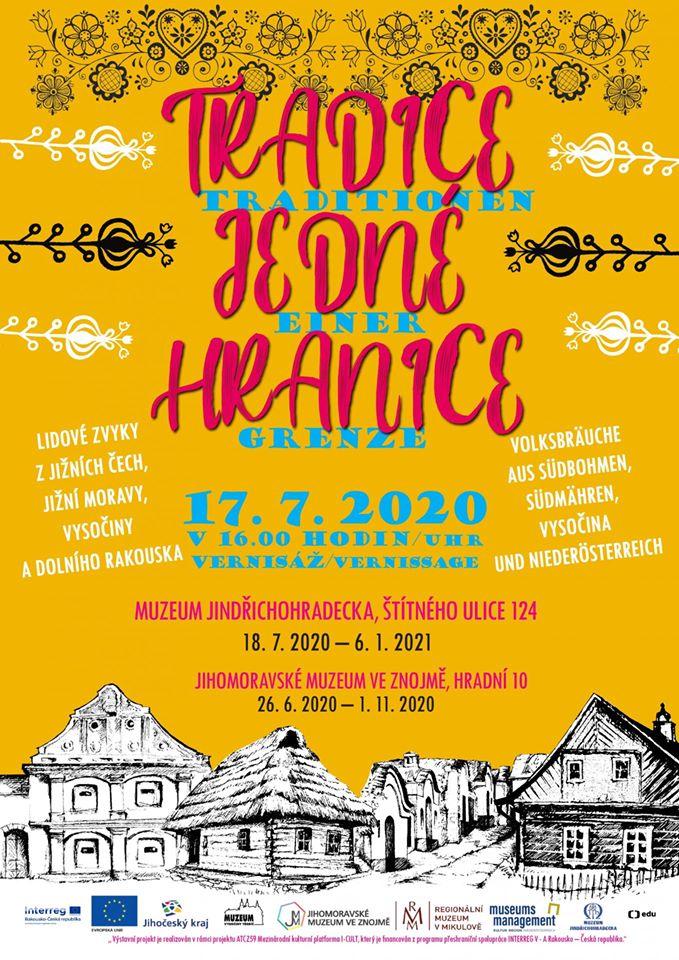 Společná česko-rakouská výstava TRADICE JEDNÉ HRANICE, uspořádaná vrámci projektu ATCZ59 mezinárodní kulturní platformy I-CULT, je financována programem přeshraniční spolupráce INTERREG V-A Rakousko – Česká republika.