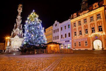 Fotil Martin: Vánočně nasvícený Jindřichův Hradec