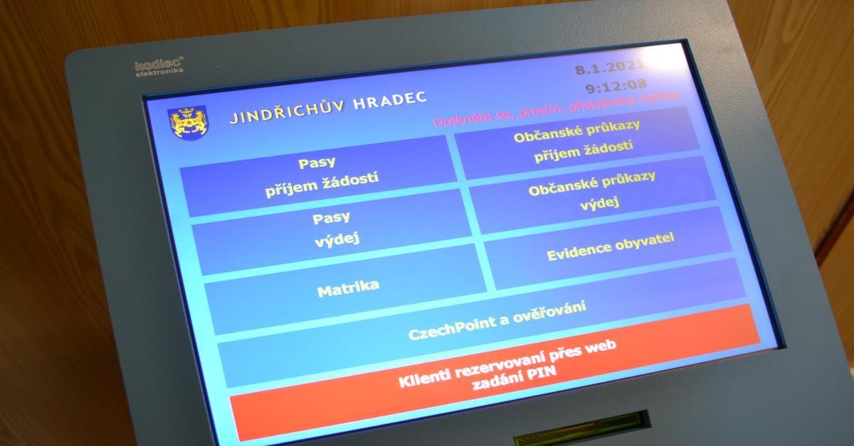 Město Jindřichův Hradec spustilo nový rezervační systém.