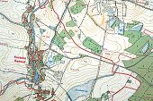 Historie kostelní Radouně – Stará katastrální mapa